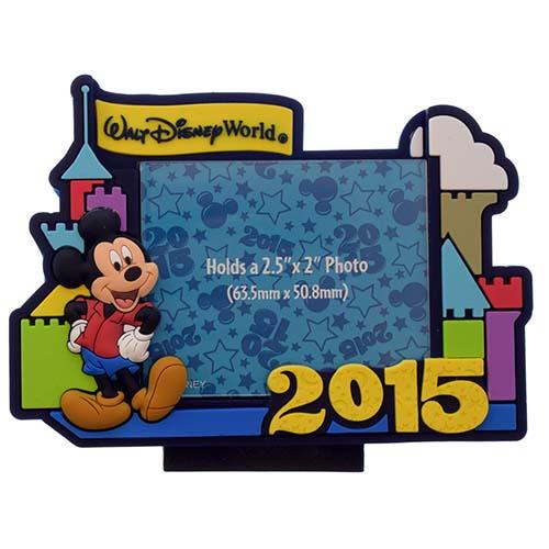 Disney Photo Frame Magnet 2015 Retro Castle Logo