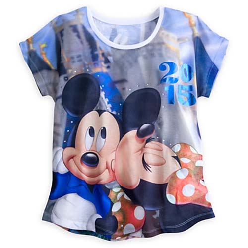 Disney Ladies Tee Shirt 2015 Mickey And Minnie Mouse
