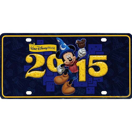Disney License Plate 2015 Mickey Mouse Tourist Logo