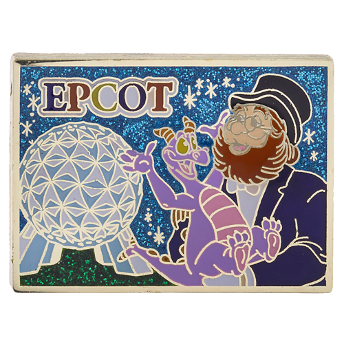 Disney Passholder Pin - 2015 Postcard - Epcot - Figment & Dream Finder