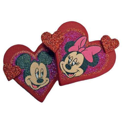 Disney Antenna Topper - Valentines Day Hearts Mickey and Minnie Mouse