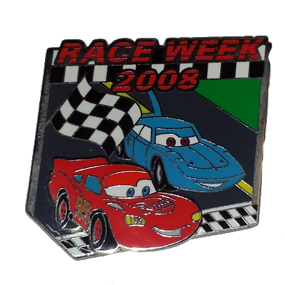 Disney Race Week Pin - 2008 Lightning McQueen & Sally