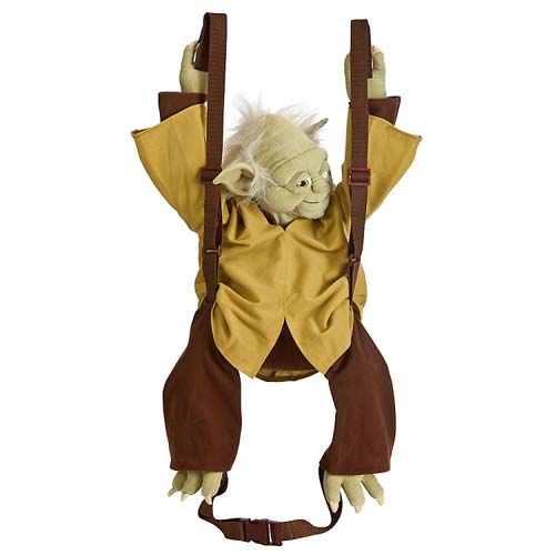 Disney Backpack Bag Star Wars Yoda Plush