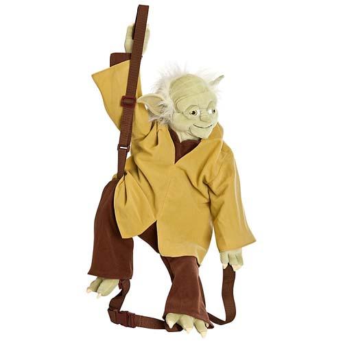 4b3e8004bfd Disney Backpack Bag - Star Wars - Yoda Plush