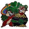 Disney St. Patrick's Day Pin - Chip N Dale