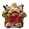 Disney Traditions by Jim Shore Figurine - Santa with Mickey & Minnie