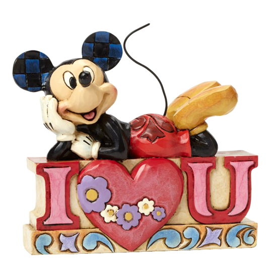 Disney Traditions by Jim Shore Figurine - Mickey I Love You