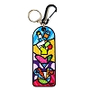 Disney Britto Keychain Keyring - Peace Love Mickey Key Chain