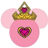 Disney Antenna Topper - Pink Princess Jewels and Crown Ears Icon