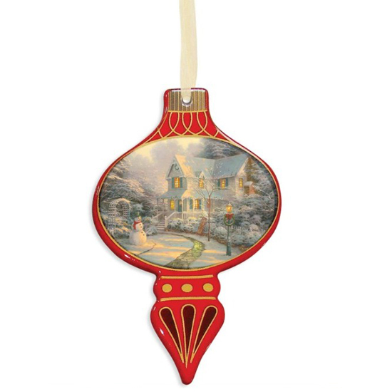 Disney Bell Disc Ornament - Thomas Kinkade - Night Before Christmas