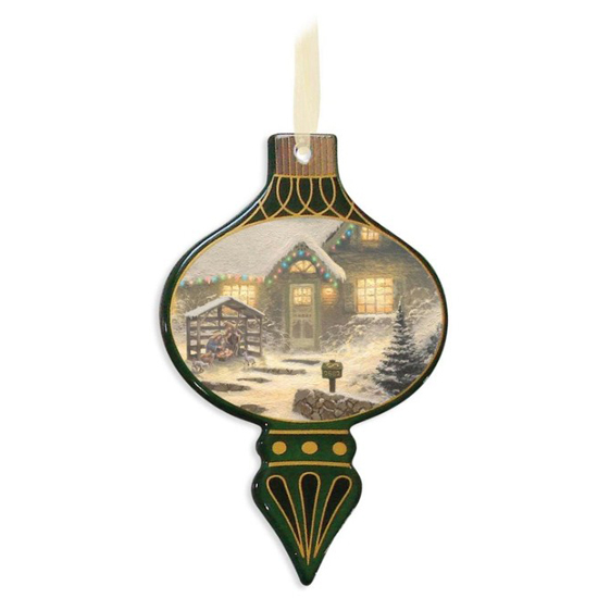 Disney Bell Disc Ornament - Thomas Kinkade - Holiday Eve Memories