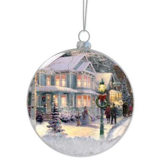 Disney Disc Ornament Thomas Kinkade Christmas Celebration