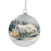 Disney Disc Ornament - Thomas Kinkade - Snowy Silent Night