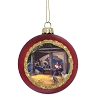 Disney Thomas Kinkade Ball Ornament - Manger Nativity Scene
