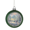 Disney Glass Ball Ornament - Thomas Kinkade - Christmas Cottage