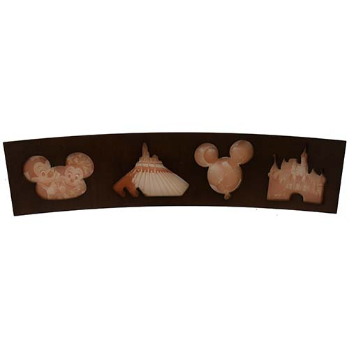 Disney Picture Frame - Theme Park Icons - Collage - Wood