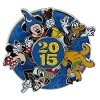 Disney Annual Pin - 2015 Logo - Mickey and Friends - Spinner