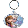 Disney Lucite Keychain Keyring - Frozen - Snow Sisters - Elsa Anna Oval