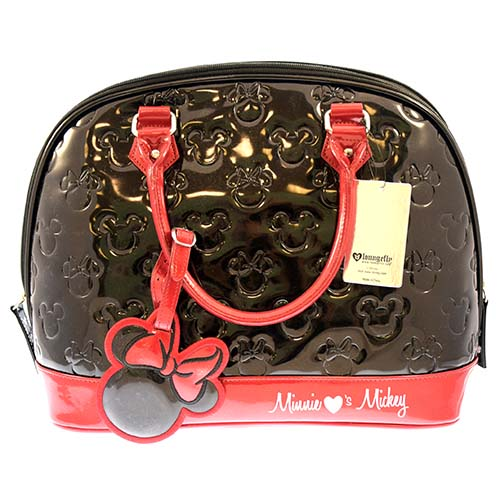 b61d07f6d6a8 Add to My Lists. Disney Loungefly Satchel Bag - Embossed Patent Minnie ...