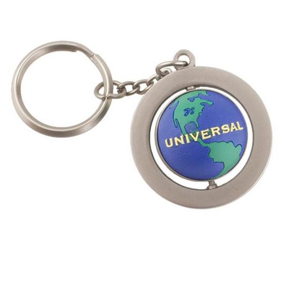 universal keychain universal studios globe spinning keychain