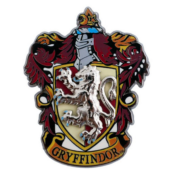 Gryffindor Crest Pewter Lapel Pin Accessory Charm Pin Back Harry Potter New