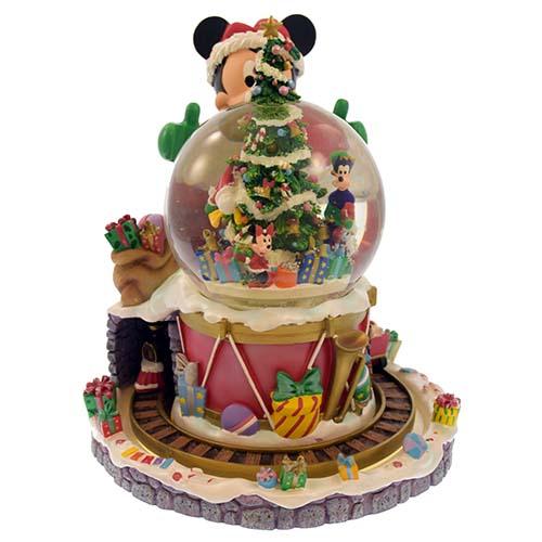 Disney Christmas Snow Globes.Disney Snow Globe Santa Mickey Christmas Snowglobe Musical