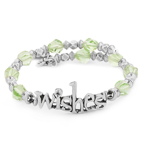 Disney Alex And Ani Bracelet Wishes Wrap Silver And Green