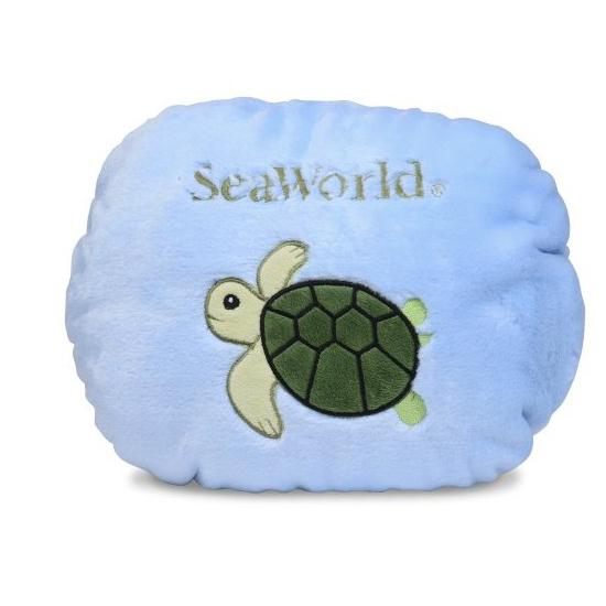 Seaworld Plush Turtle Flipout Pillow