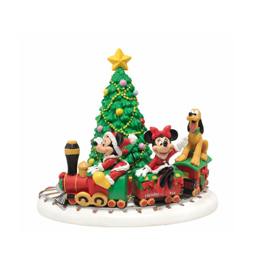 Disney Village Figure - Mickey's Holiday Express Train