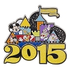 Disney 2015 Jumbo Pin Collection - 2015 Jumbo Walt Disney World