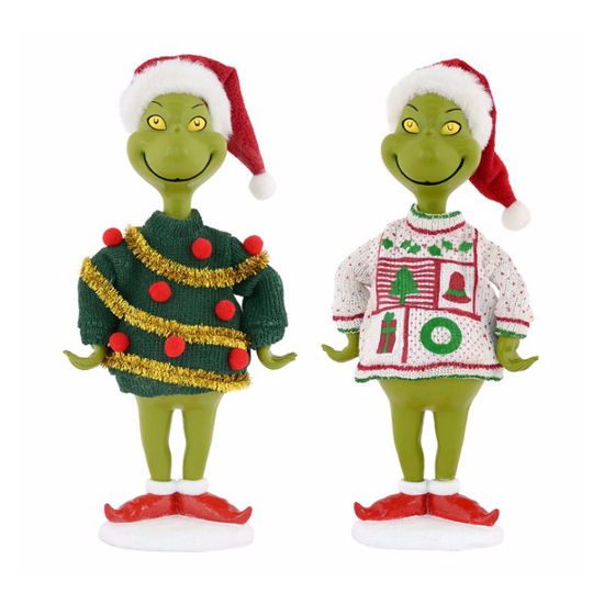 universal figurine how the grinch stole christmas ugly sweater - How The Grinch Stole Christmas Sweater