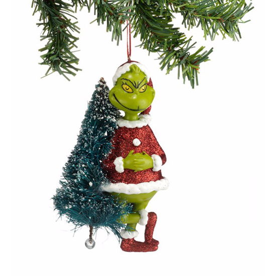 Grinch With Sisal Tree Ornament
