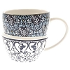 Disney Coffee Cup - Mickey Icon - Indigo Blues - Double Stack