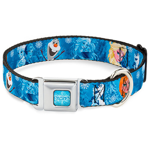 Disney Designer Pet Collar - Frozen - Elsa, Olaf & Anna