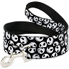 Disney Designer Pet Leash - Jack Skellington Faces - B&W
