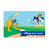 Disney Collectible Gift Card - Mickey & Pluto at Bat