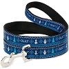 Disney Designer Pet Leash - Olaf Snowflakes Stitch Blues - White