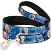 Disney Designer Pet Leash - Frozen Elsa Poses Snowflakes