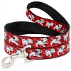 Disney Designer Pet Leash - 101 Dalmatians - Red