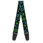 Disney Guitar Strap -  Monsters Inc. - Sulley and Mike - Neon Poses