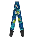 Disney Guitar Strap - Monsters University - Mike and Sulley - Buddies