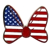Disney Minnie Pin - Minnie Mouse American Flag Bow
