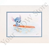 Disney Artist Print - Stitch Swimming Lessons by Sydney Hanson