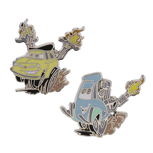 Disney Cars Pin Set - Pixar Race Cars - Luigi and Guido