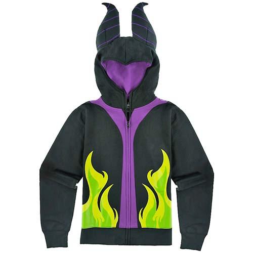 Disney Ladies Hoodie Maleficent Costume Jacket
