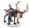Disney Figurine - Frozen Village - Kristoff Serenading Sven