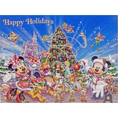 disney christmas cards mickey and friends happy holidays