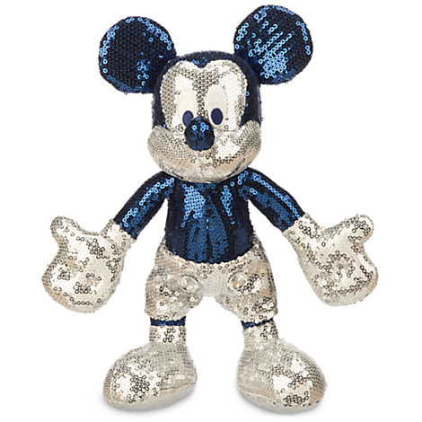 Disney Plush - Disneyland Diamond Celebration - Mickey Sequined - 11''
