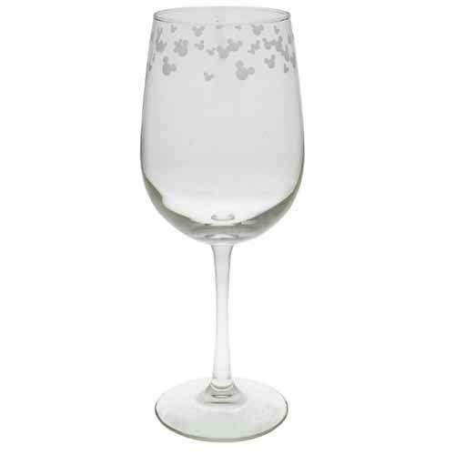 Disney Wine Glass - Mickey Mouse Icon - White - 9''
