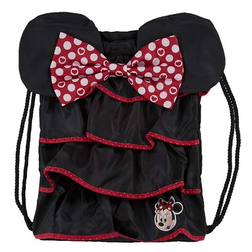 Disney Backpack Bag Minnie Mouse Ruffled Drawstring